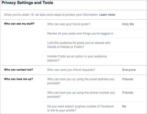 Facebook Settings You should change to remain as private as possible